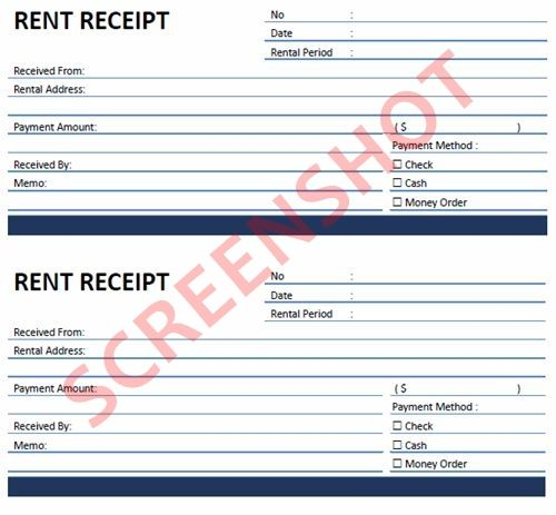 Rent Receipt PDF Template Download – Rent Slip Pdf