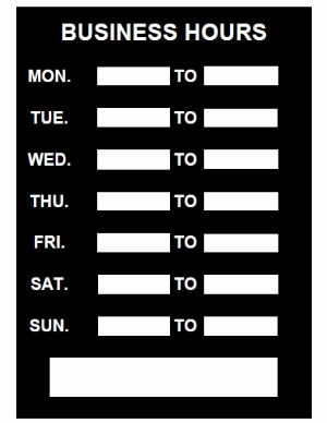 picture about Business Hours Template Pdf named Enterprise Several hours Indicator - PDF Template Obtain
