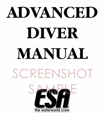 ESA Advanced Diver Manual, sample